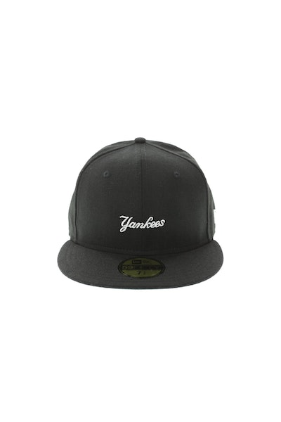 New Era New York Yankees 59FIFTY Mini Script Fitted Black
