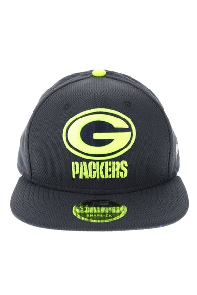 New Era Green Bay Packers Neon Pop 950 Original Fit Snapback Navy