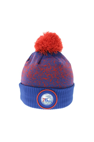 New Era Philadelphia 76ers Logo Beanie Royal/Red