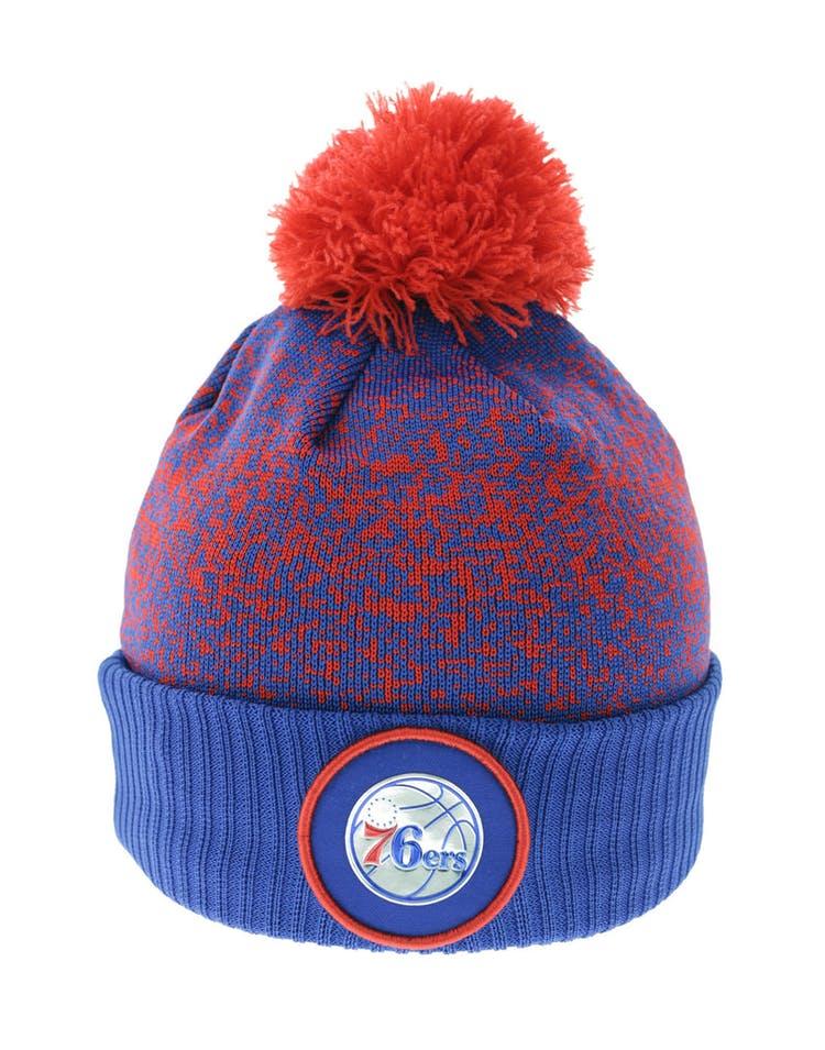 0e94d33ea90f86 New Era Philadelphia 76ers Logo Beanie Royal/Red – Culture Kings