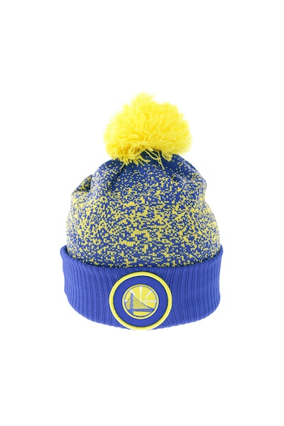 New Era Golden State Warriors Logo Beanie Royal/Yellow