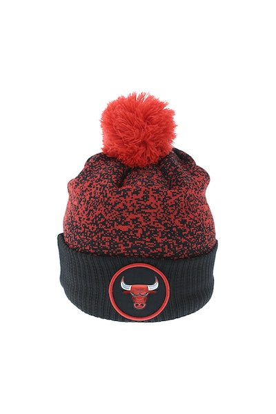 New Era Chicago Bulls Logo Beanie Black/Red