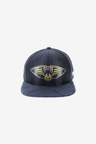 New Era New Orleans Pelicans 950 Original Fit On-Court Collection Draft Snapback Navy