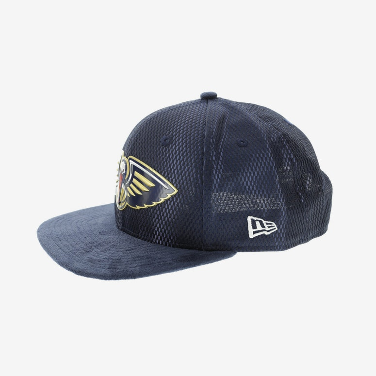 brand new d4e69 86898 New Era New Orleans Pelicans 9FIFTY Original Fit On-Court Collection Draft  Snapback Navy