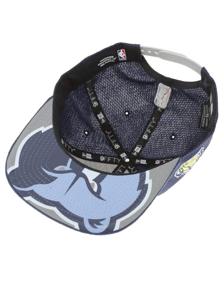 355c4f58e3301 New Era Memphis Grizzlies 9FIFTY Original Fit On-Court Collection Draft  Snapback Navy