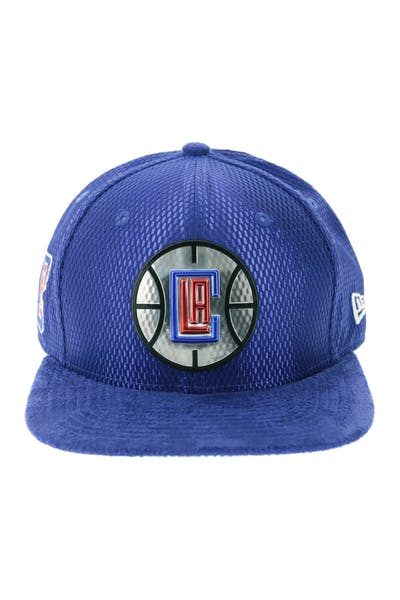 60c34ca3a7e New Era Los Angeles Clippers 9FIFTY Original Fit On-Court Collection Draft  Snapback Navy