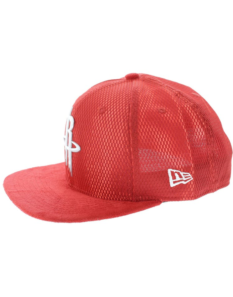 premium selection b943f da870 New Era Houston Rockets 9FIFTY Original Fit On-Court Collection Draft  Snapback Red