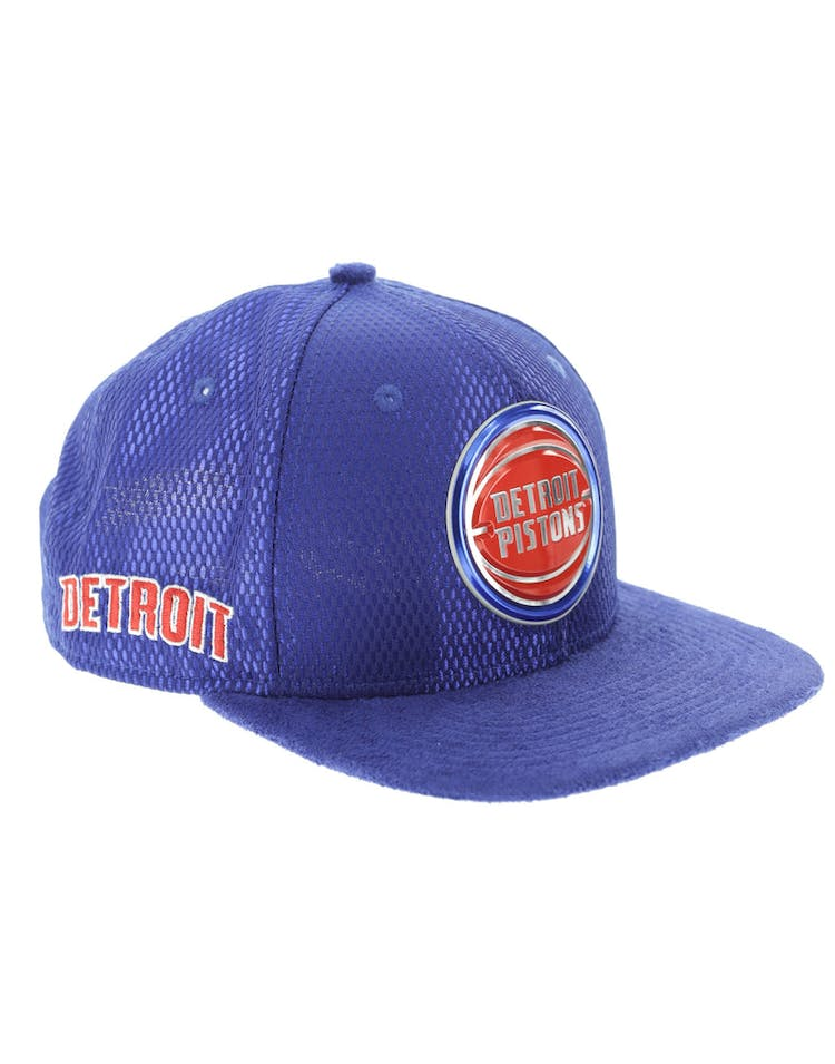 big sale 9eaec 65c9b New Era Detroit Pistons 9FIFTY Original Fit On-Court Collection Draft  Snapback Royal