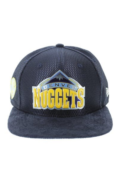 New Era Denver Nuggets 9FIFTY Original Fit On-Court Collection Draft Snapback Navy