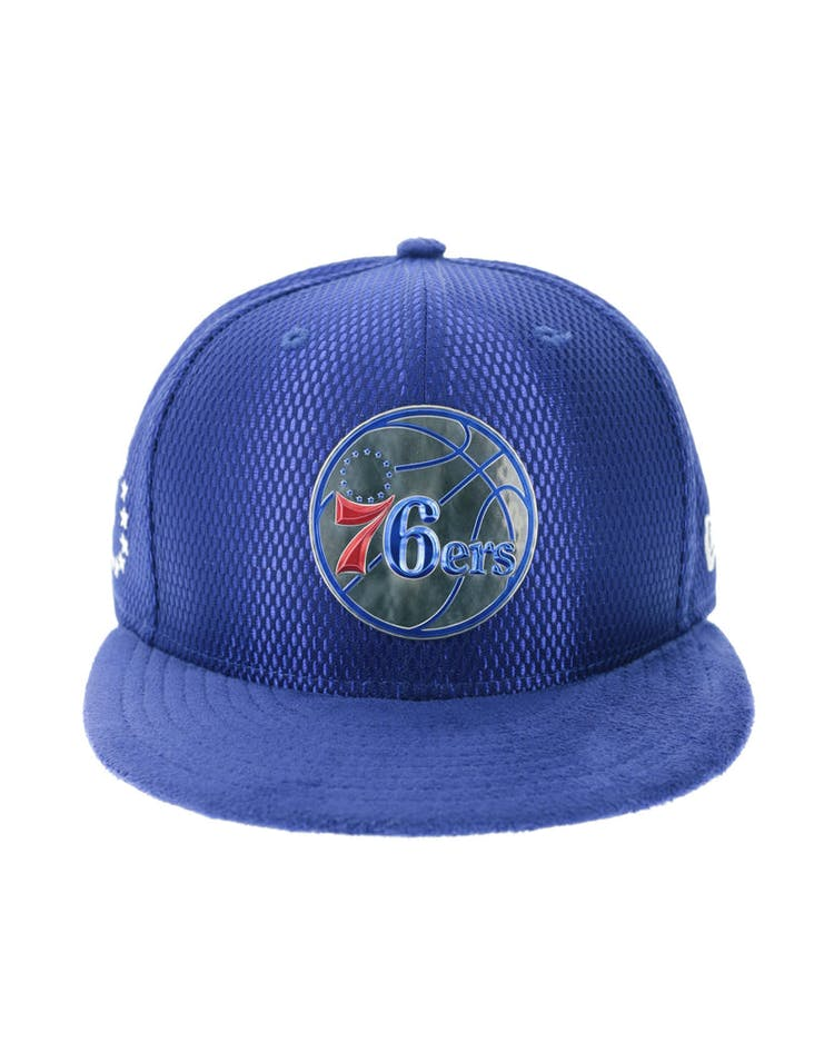 new concept d2eeb 1077c New Era Philadelphia 76ers 9FIFTY On-Court Collection Draft Snapback R –  Culture Kings