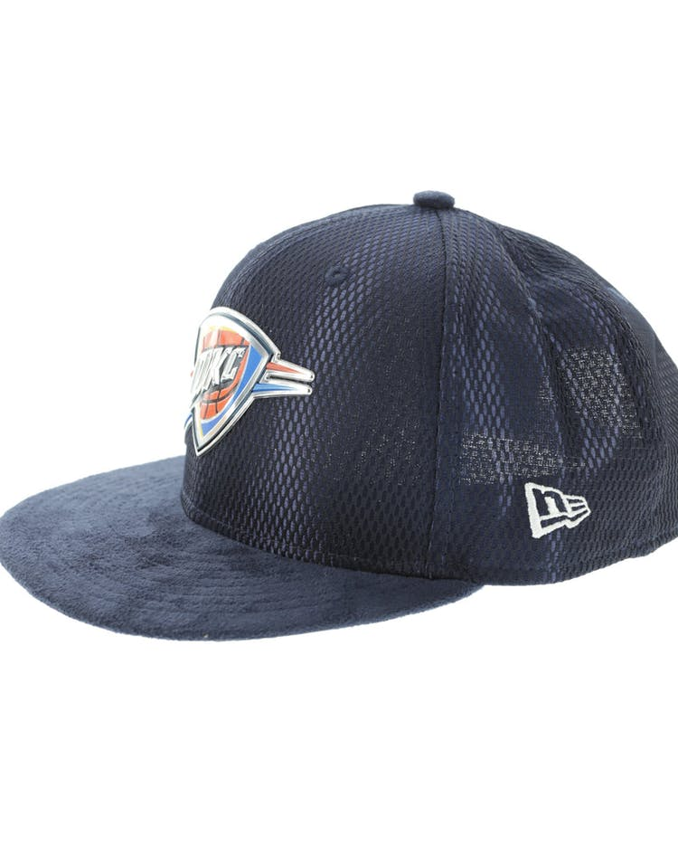 outlet store 48e5a 3e746 New Era Oklahoma City Thunder 9FIFTY On-Court Collection Draft Snapback Navy