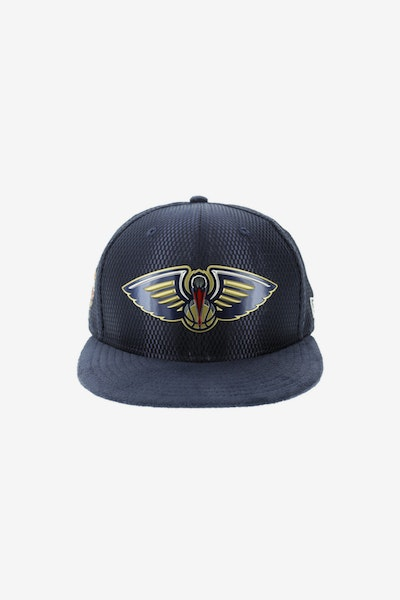 New Era New Orleans Pelicans 9FIFTY On-Court Collection Draft Snapback Navy
