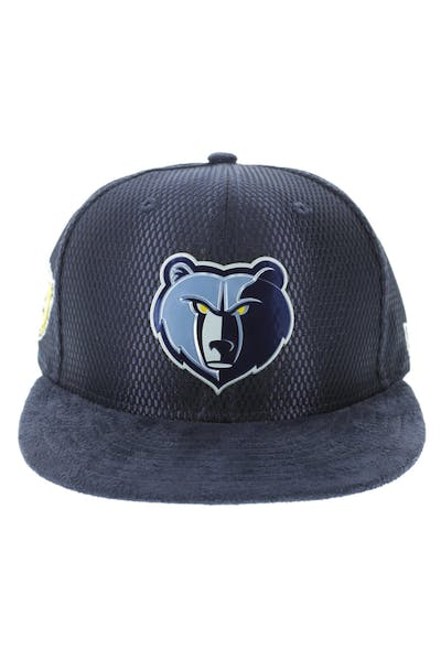 New Era Memphis Grizzlies 9FIFTY On-Court Collection Draft Snapback Navy