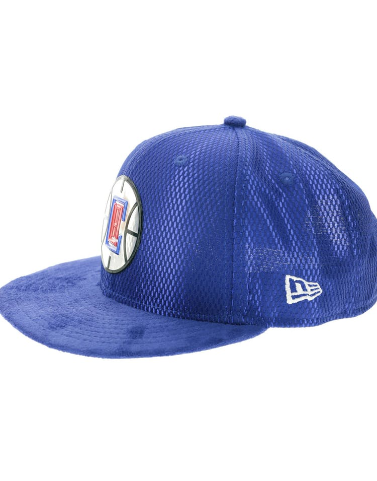best service 9b255 36865 New Era Los Angeles Clippers 9FIFTY On-Court Collection Draft Snapback Navy