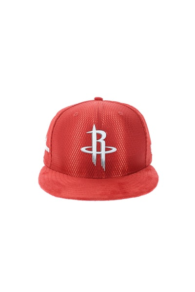 New Era Houston Rockets 9FIFTY On-Court Collection Draft Snapback Red
