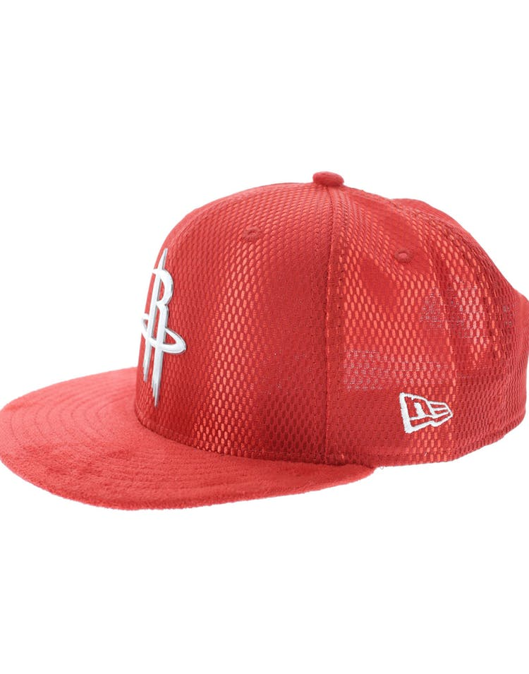 watch 67bee 4e2e7 New Era Houston Rockets 9FIFTY On-Court Collection Draft Snapback Red