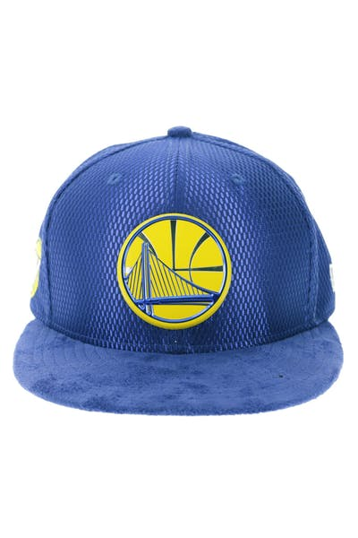 afb8eaf382223 New Era Golden State Warriors 9FIFTY On-Court Collection Draft Snapback  Royal