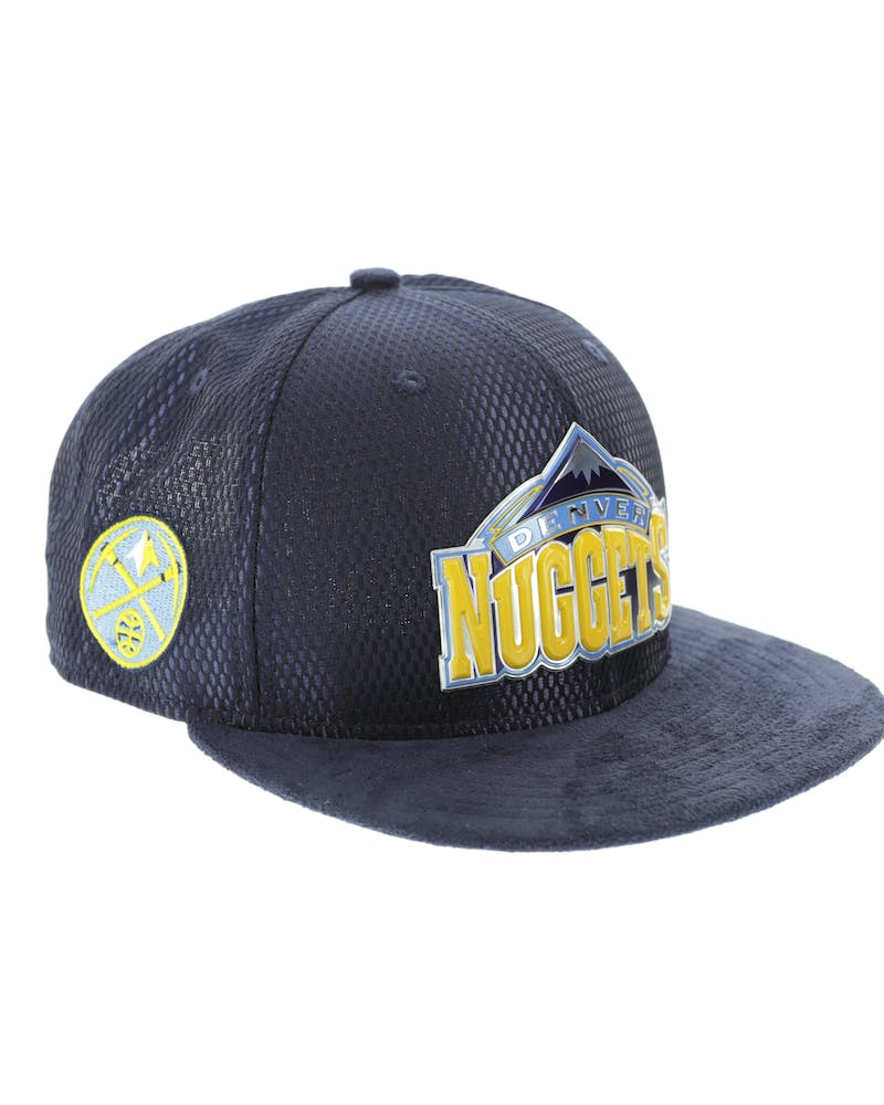 New Era Denver Nuggets 9FIFTY On-Court Collection Draft Snapback Navy