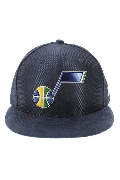 New Era Utah Jazz 59FIFTY Fitted On-Court Collection Draft Navy