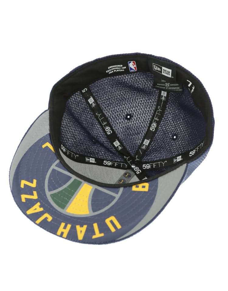 finest selection e9fd1 8c391 New Era Utah Jazz 59FIFTY Fitted On-Court Collection Draft Navy