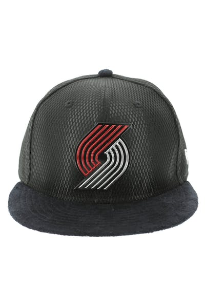 New Era Portland Trailblazers 59FIFTY Fitted On-Court Collection Draft Black