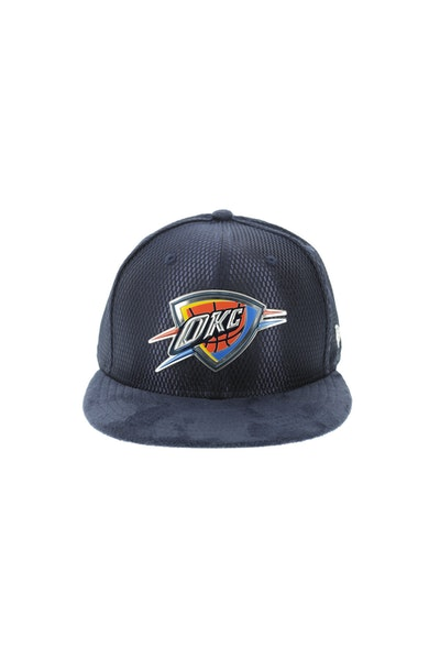 New Era Oklahoma City Thunder 5950 On-Court Collection Draft Navy