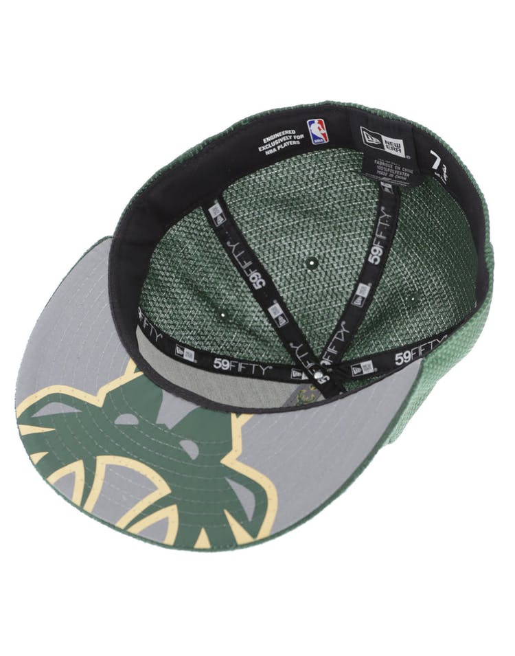 buy popular 914e1 e6e1c New Era Milwaukee Bucks 59FIFTY On-Court Collection Draft Green