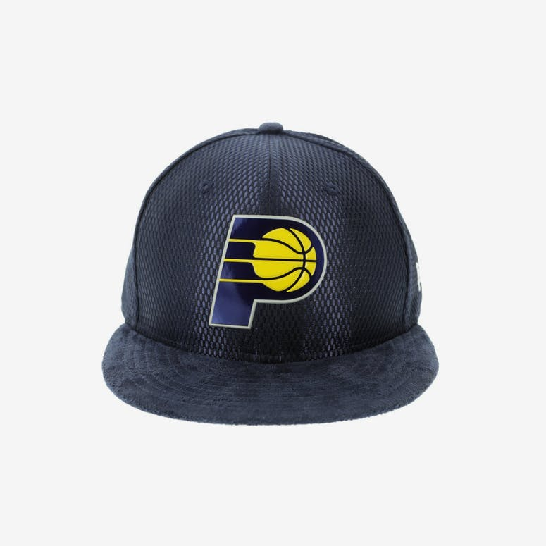 42fefc63347 New Era Indiana Pacers 59FIFTY Fitted On-Court Collection Draft Navy –  Culture Kings