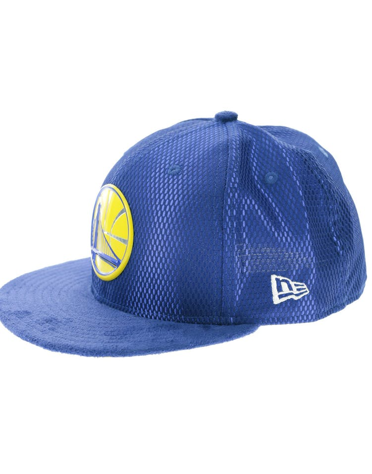 size 40 b6918 9c2bc New Era Golden State Warriors 59FIFTY Fitted On-Court Collection Draft Royal
