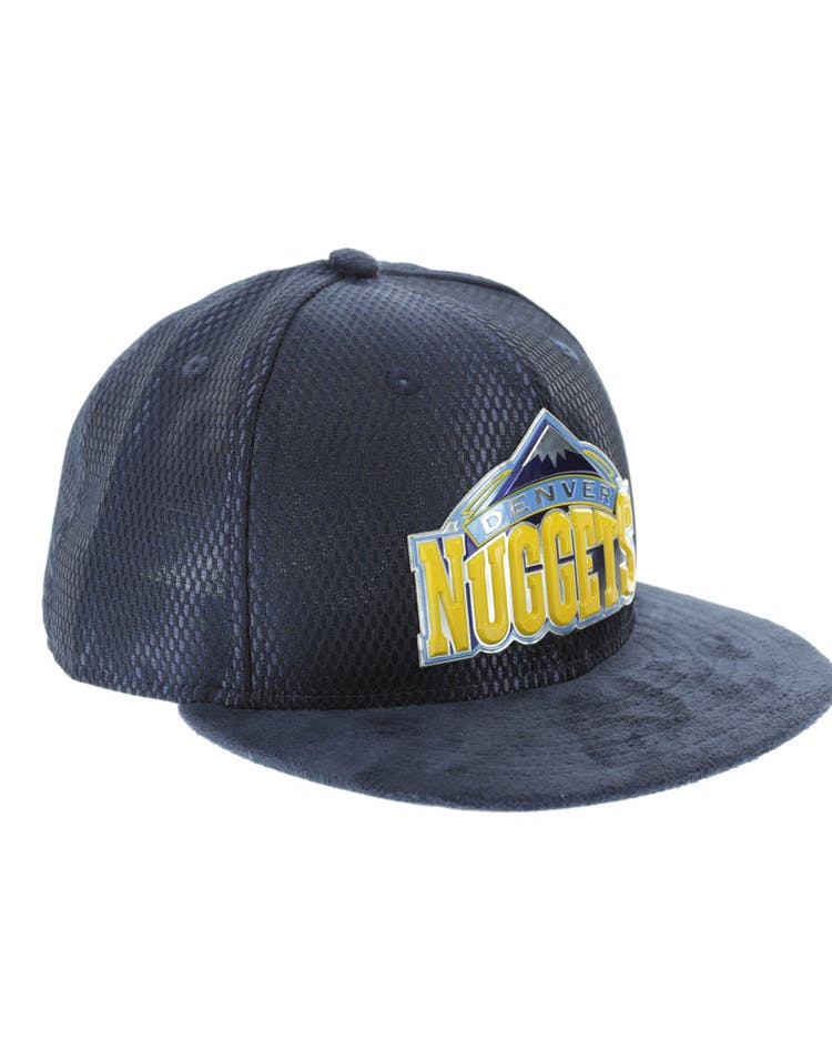the latest aff82 4826d New Era Denver Nuggets 59FIFTY Fitted On-Court Collection Draft Navy