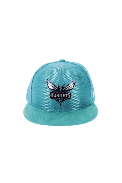 New Era Charlotte Hornets 5950 On-Court Collection Draft Teal
