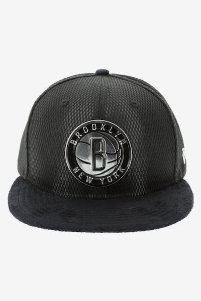 a2cf4d45fc3 New Era Brooklyn Nets 59FIFTY Fitted On-Court Collection Draft Black