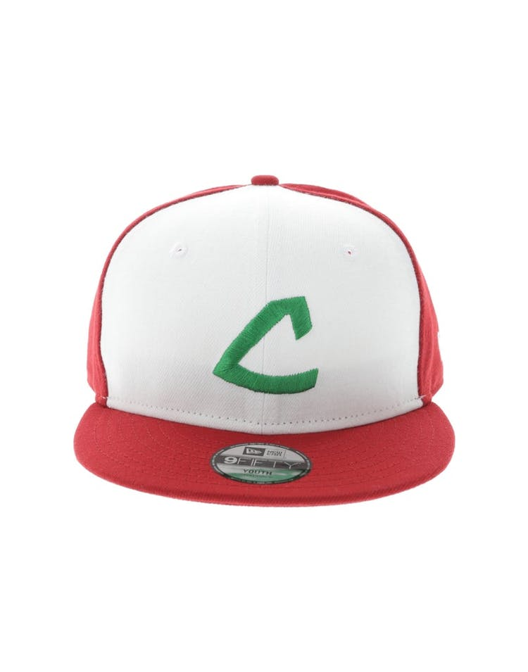 13d72b65a94 New Era Cleveland Indians Youth Pokemon 9FIFTY Snapback White Scarlet –  Culture Kings