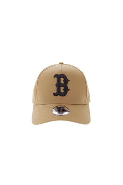 New Era Youth Boston Red Sox 940 A-Frame Snapback Wheat
