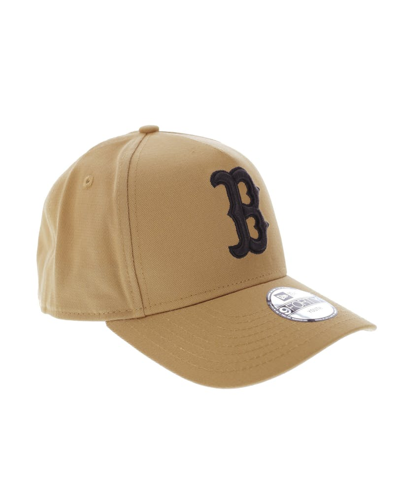 New Era Youth Boston Red Sox 9FORTY A-Frame Snapback Wheat
