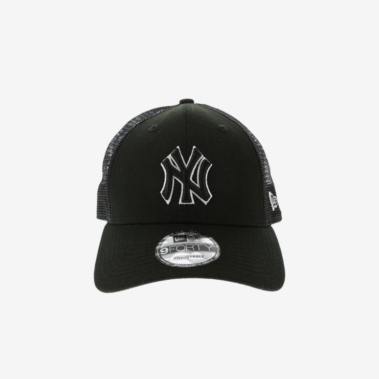 932b9848326 New Era New York Yankees 9FORTY Trucker Snapback Black – Culture Kings