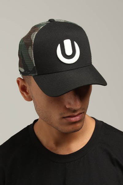 New Era Ultra Music 9FORTY K-Frame Strapback Trucker Black