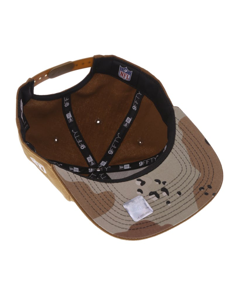 New Era Oakland Raiders 9FIFTY Original Fit Snapback Toasted Peanut