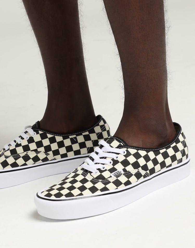 8561b9704435c3 Vans Authentic LITE (Checkerboard) Black White – Culture Kings