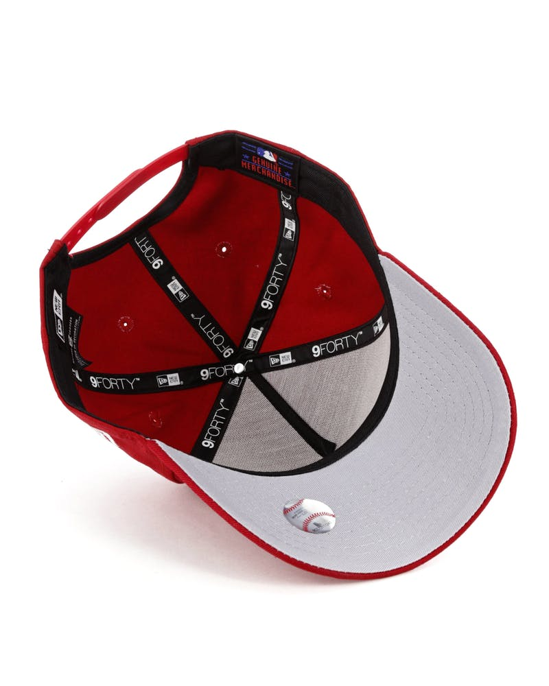 New Era San Francisco Giants 9FORTY A-Frame Grey Undervisor Snapback Red/Grey