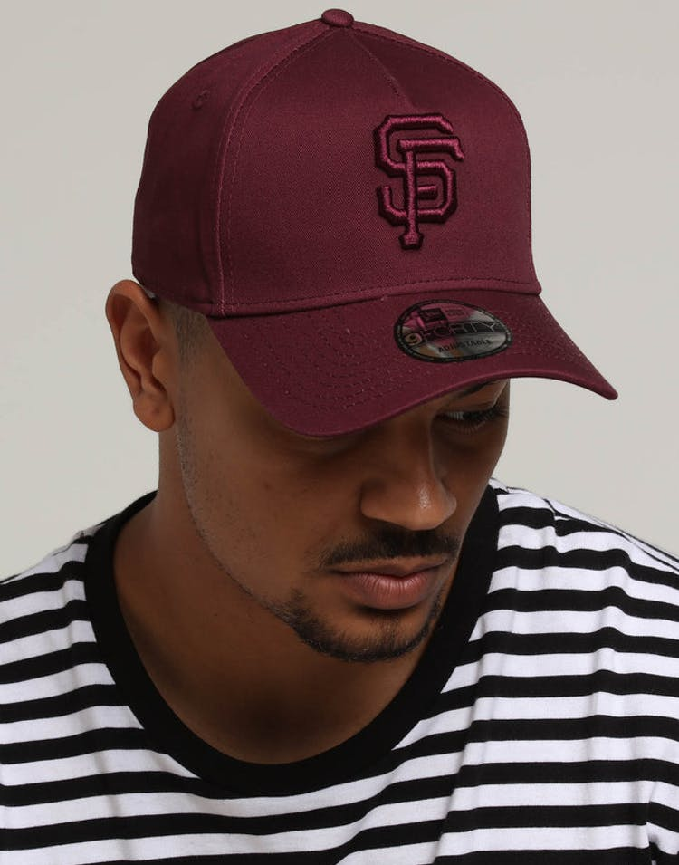 a822e188d083a New Era San Francisco Giants 9FORTY A-Frame Snapback Maroon – Culture Kings