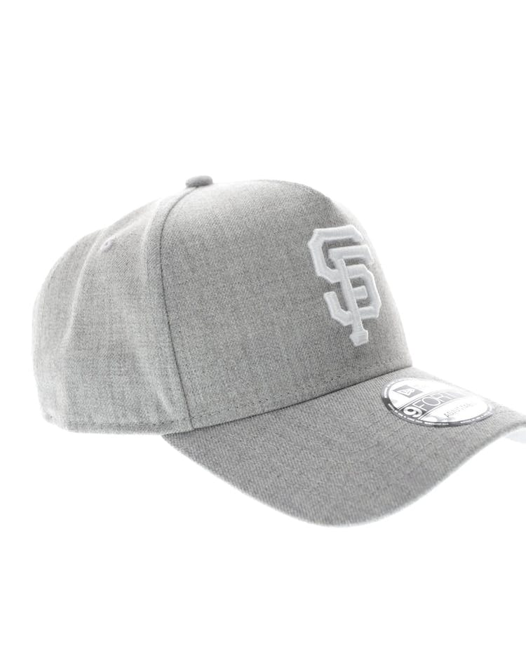 size 40 2f464 d6e1f New Era San Francisco Giants 9FORTY A-Frame Snapback Heather Grey