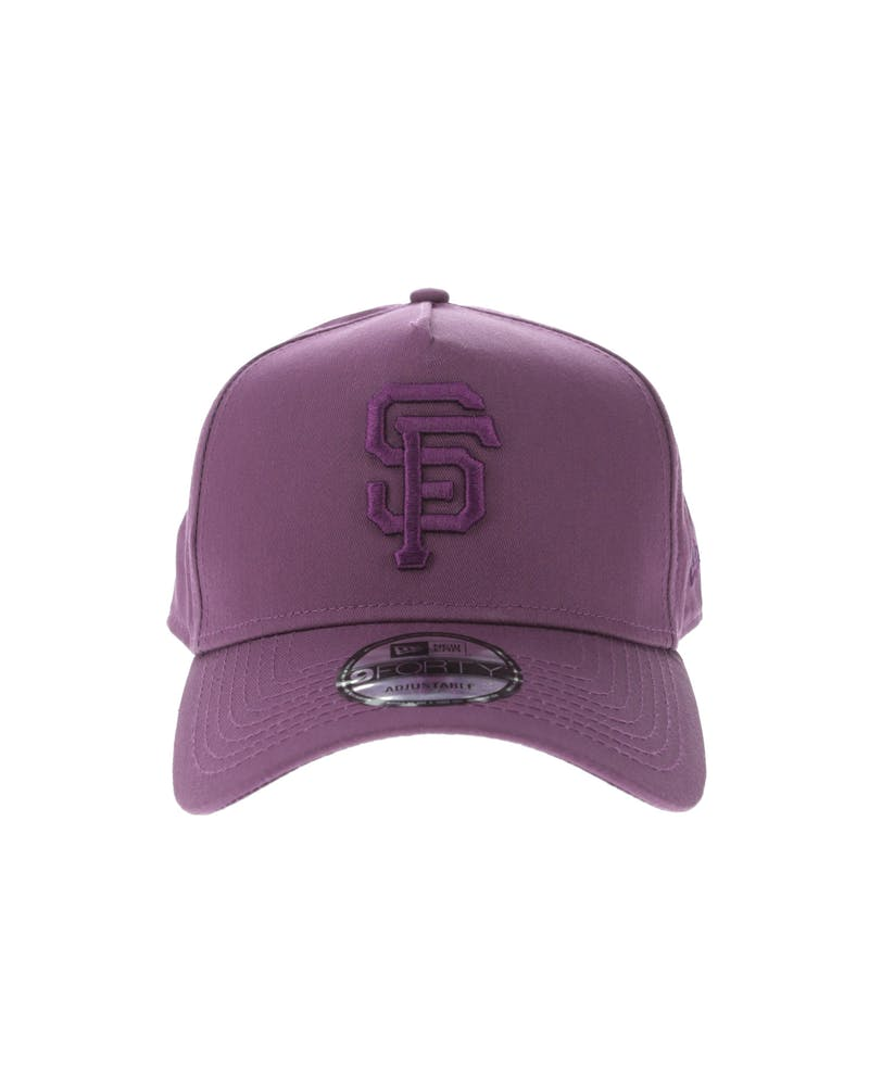 New Era San Francisco Giants 9FORTY A-Frame Snapback Burgundy/Berry