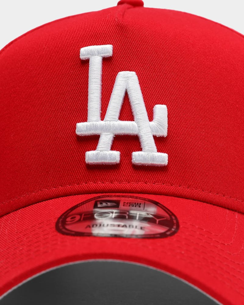 New Era Los Angeles Dodgers 9FORTY A-Frame Grey Undervisor Snapback Red/Grey