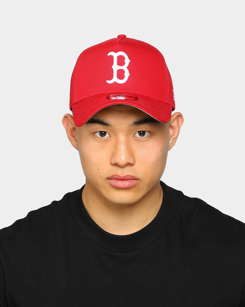 New Era Boston Red Sox 9FORTY A-Frame Grey Undervisor Snapback Red/Grey