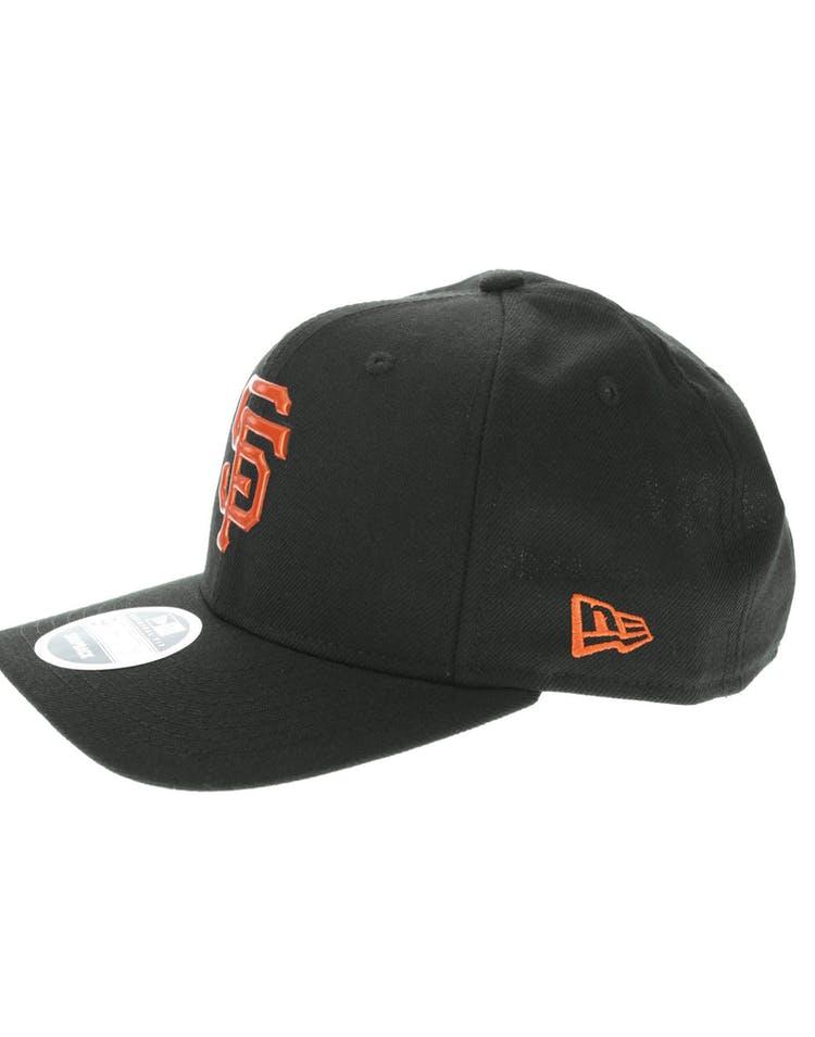new concept d6bbc c6edc New Era San Francisco Giants 9FIFTY Original Fit Precurve TPU Logo Snapback  Black Orange