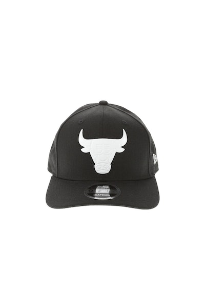 New Era Chicago Bulls 950 Original Fit Precurve TPU Logo Snapback Black/White