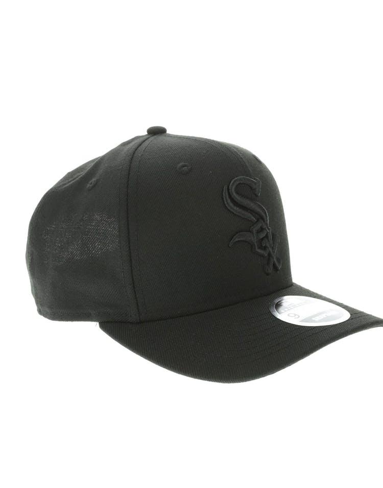 premium selection f6d36 41b6b New Era Chicago White Sox 9FIFTY Original Fit Precurve Snapback Black Black