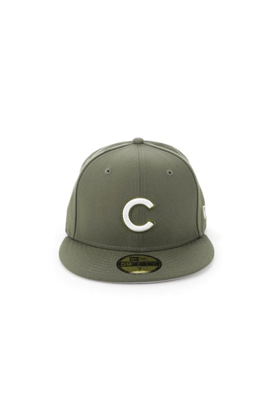 New Era Cincinnati Reds 5950 Fitted Olive