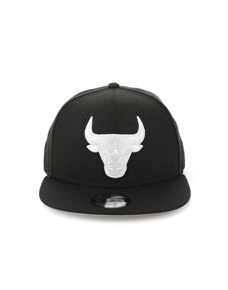 c1c337368ec New Era Youth Chicago Bulls 9FIFTY Perforated Snapback Black – Culture Kings